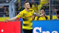 Erst hatte er Pech, dann kam doch Glück dazu: Marco Reus trifft doppelt gegen Leverkusen