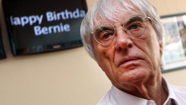 Herzlichen Glückwunsch, Bernie! Vor kurzem wurde Ecclestone 82, nun hat er eine Idee