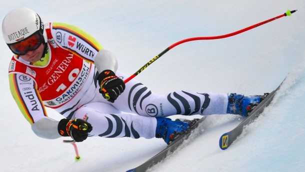 Ski-Ass Baumann in Garmisch in den Top Ten