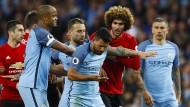Turbulente Schlussphase im Derby von Manchester