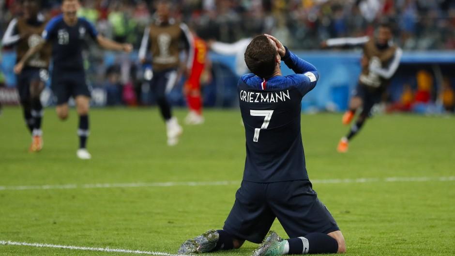 Pure Freude: Antoine Griezmann und seine Mitspieler