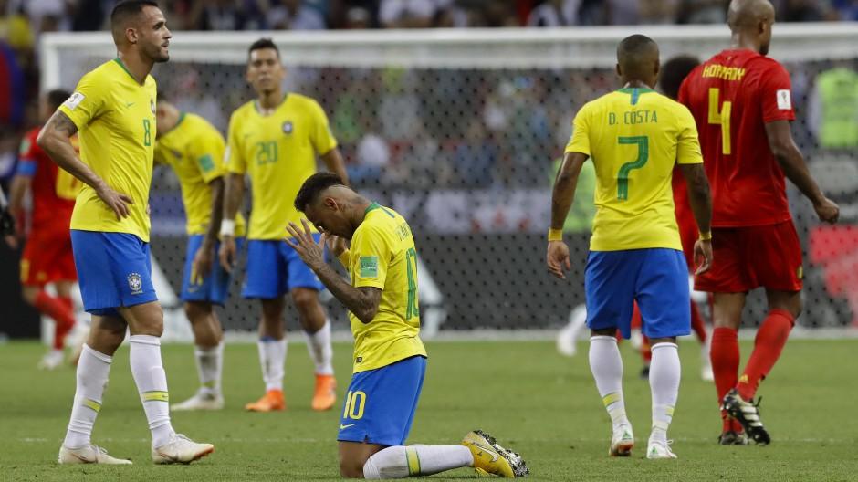 Da helfen keine Bitten: Neymar und Brasilien sind an Belgien gescheitert