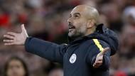 Pep Guardiola und Manchester City verlieren die Spitze so langsam aus den Augen.