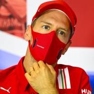 Beim Training in Silverstone mit technischem Defekt: Sebastian Vettel kommt nicht hinterher.