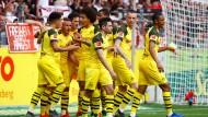 Dortmunder Jubel: Jadon Sancho hat die Führung erzielt.