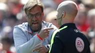 Liverpools Trainer Jürgen Klopp hat einigen Redebedarf beim 0:0 gegen Southampton.