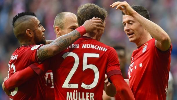 Leichtes Spiel für die Bayern