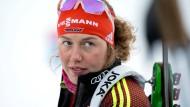 Von einer Last befreit: Laura Dahlmeier beendet ihr Biathlon-Karriere.