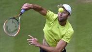 Serve, ohne volley: Ivo Karlovic fackelt nicht lange beim Rasen-Tennis
