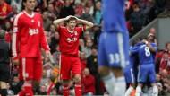Was war das denn? Liverpools Steven Gerrard half Chelsea auf dem Weg zur Meisterschaft