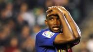 Doppelt getroffen, Siegesserie gerissen: Barcelona und Stürmer Eto'o