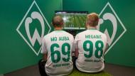 """Zocken sie in London für Deutschland? Die deutschen Meister Mohammed """"Mo Aubameyang"""" Harkous (links) und Michael """"Megabit"""" Bittner von Werder Bremen."""