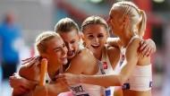 Eines der Highlights: Die polnische Staffel freut sich über einen nicht von allen so erwarteten Erfolg.