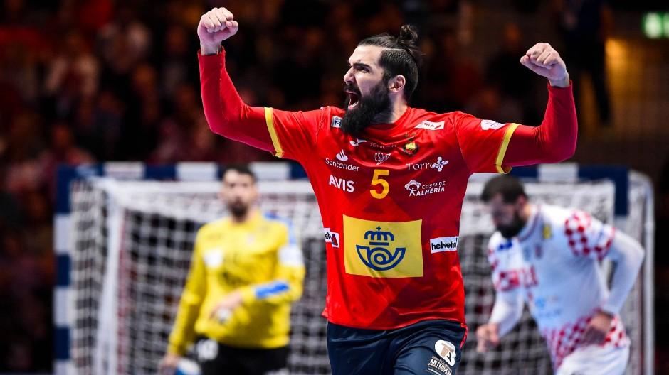 Erfolgreiche Titelverteidigung: Jorge Maqueda Pena und seine Spanier gewinnen gegen Kroatien.