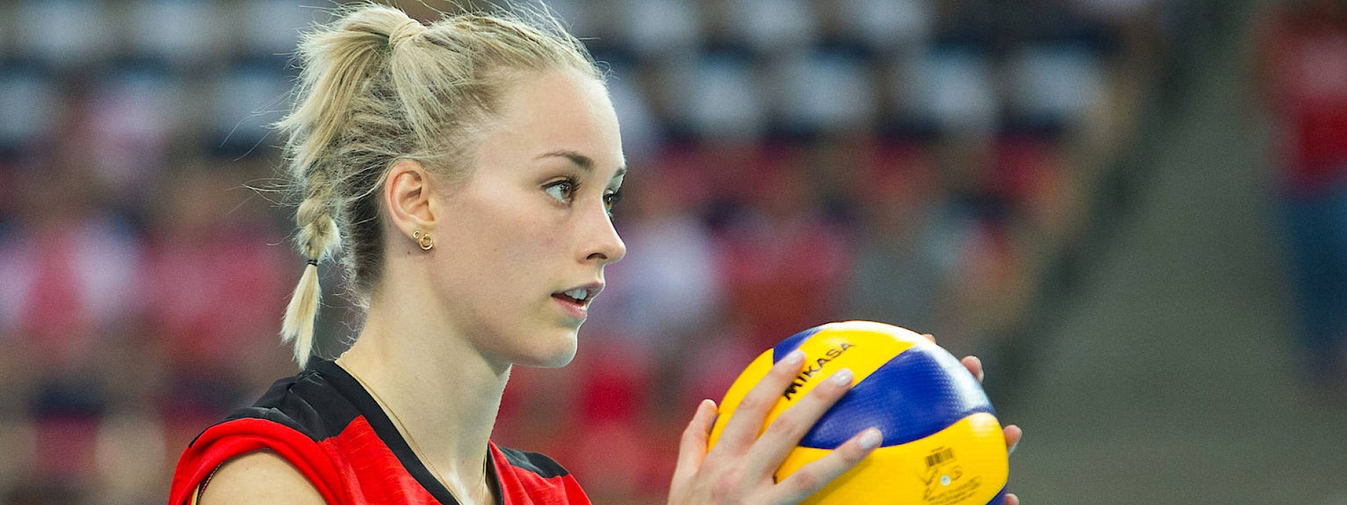 Ein Global Player am Volleyball-Netz