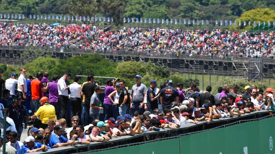 Volles Haus in Brasilien beim vorletzten Saisonrennen der Formel 1.
