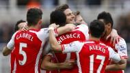 Arsenal gewinnt in Newcastle und freut sich mit Torschütze Giroud