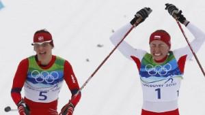 Björgen verpasst viertes Gold, Sachenbacher verpasst Bronze