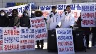 """""""Der koreanische Skiverband hat unser Leben ruiniert"""": Diese Koreaner drücken ihren Unmut in deutlichen Worten aus."""