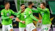 Jubel in grün: So etwas hat man in Wolfsburg lange nicht gesehen.