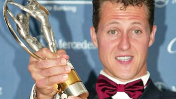 Ausgezeichneter Schumacher auf der Flucht