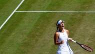 Ein Jahr länger bis zum ersten Jubel: Auch Angelique Kerber wollte sich beim Rasen-Tennisturnier in Bad Homburg auf Wimbledon vorbereiten.