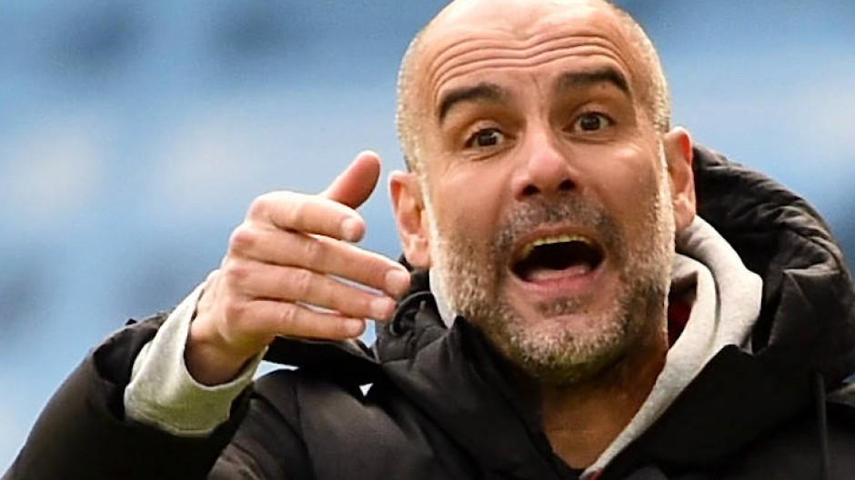 Niederlage mit Manchester City: Trainer Pep Guardiola
