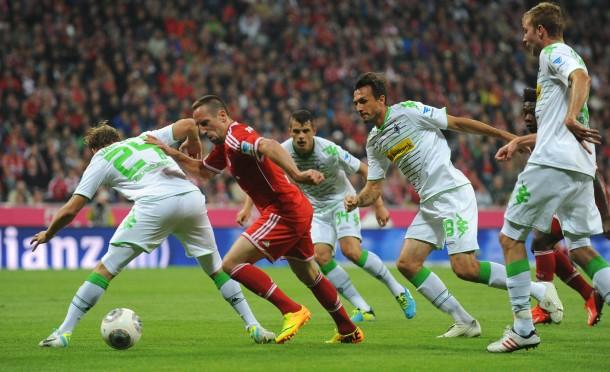 Großer kleiner Wirbelwind: Ribery narrte die Gladbacher Abwehr nicht nur in dieser Szene