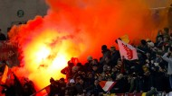 Fan-Krawalle überschatten Unentschieden in Rom