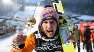 So sieht ein Sieger aus: Severin Freund gewinnt in Wilingen