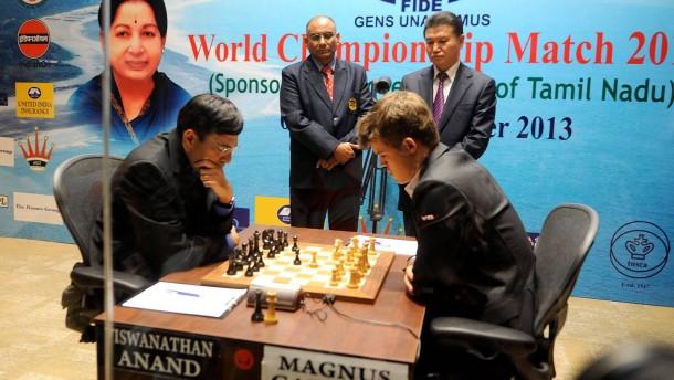 Indische Ungezwungenheit bei der Schach-WM