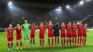 Gut ausgeleuchtet auf der fremden Bühne: das Ensemble des FC Bayern überzeugt beim Gastspiel in Dortmund