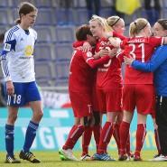 Ausgeschieden: Kerstin Garefrekes und die Titelverteidigerinnen des 1. FFC haben gegen Potsdam nichts zu jubeln.