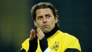 Auf dem Weg zurück ins Tor von Borussia Dortmund