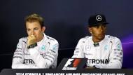 Ein Jahr voller Attacken: Nico Rosberg und Lewis Hamilton kämpfen erbittert um den Titel.