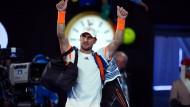 So sieht kein Verlierer aus: Mischa Zverev beim Abschied aus Melbourne