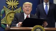 Donald Trumps Einreisebeschränkung hat auch für internationale Sportevents Konsequenzen.