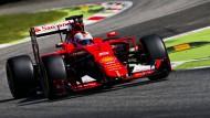 Sebastian Vettel startet beim Ferrari-Heimspiel in Monza von Platz drei.