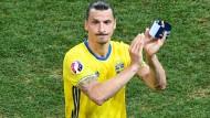 Zlatan Ibrahimovic spielt nicht mehr für Schweden, aber zukünftig für Manchester United.