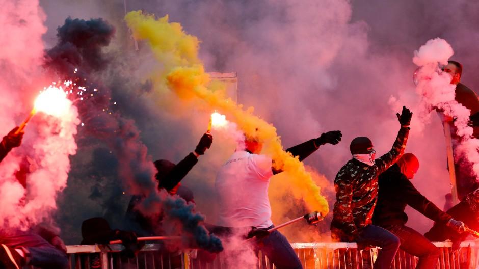Im Blickfeld der Polizei: Anhänger des FC St. Pauli, hier im März 2019