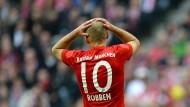 Zum Haare raufen: die Bayern mit Robben schaffen keinen Heimsieg gegen Hoffenheim