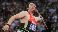 Die 83-Meter-Marke im Blick: Matthias de Zordo will zu Olympia nach Rio. Diesen Samstag in Jena könnte er die geforderte Weite übertreffen.