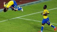 Salto für ein Tor: BVB-Spieler Aubameyang trifft als Kapitän für Gabun