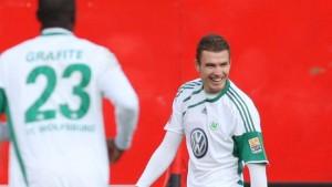 Dzeko und Grafite lassen Wolfsburg auf Europa hoffen