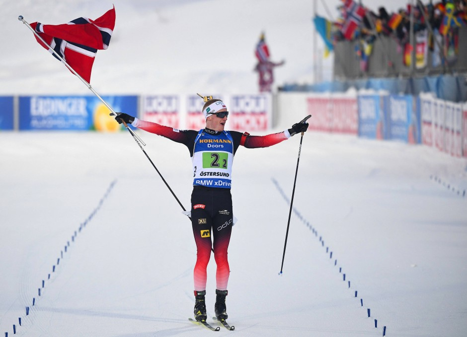 Siegläufer: Johannes Thingnes Bö aus Norwegen
