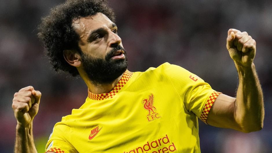Immer bereit zum Jubeln: Mohamed Salah ist derzeit in Bestform.