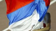 Russische Leichtathleten akzeptieren Sippenhaft