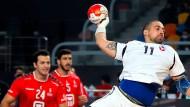 Eröffnungsspiel zwischen Chile und Ägypten: erstaunlich viele Offizielle in der Halle.