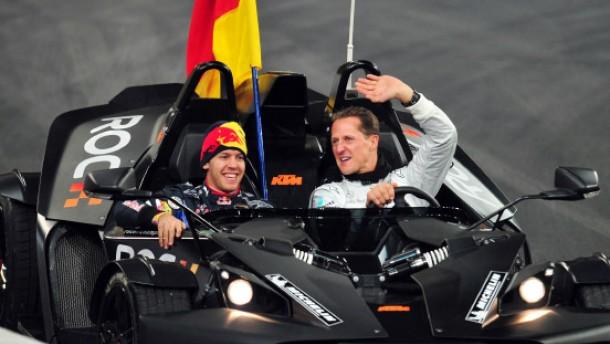 Die Turniermannschaft Vettel/Schumacher