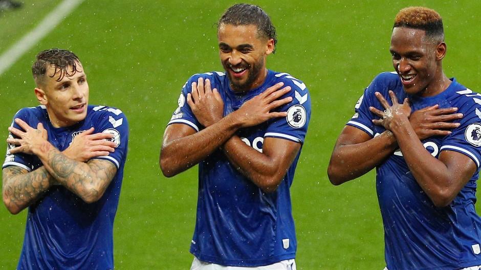 Spielfreude: der FC Everton und Dominic Calvert-Lewin (Mitte)